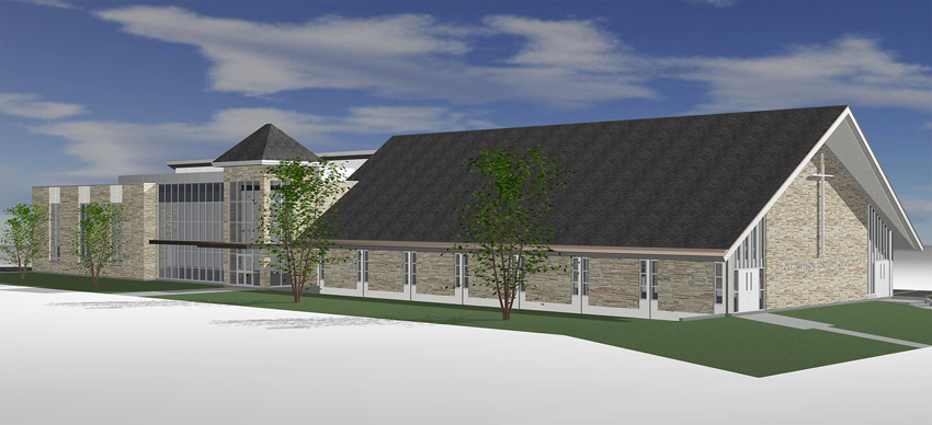 Port nelson new church design and layouts for Church exterior design
